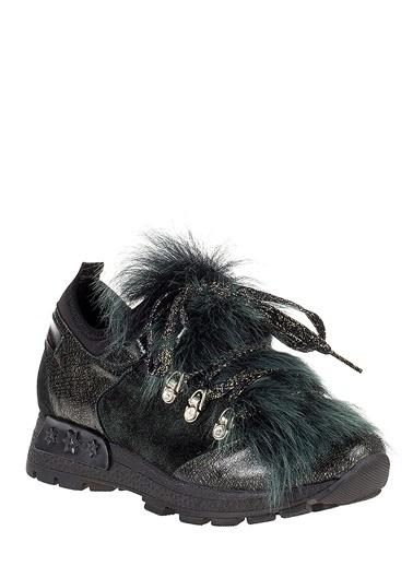 Pier Lucci Hakiki Deri Sneakers Yeşil